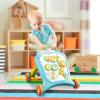 Baby Steps zenélő járássegítő gyerekeknek 42x43,5x52 cm, kék