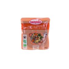 Babybio Bio zöldséges-sertéshúsos ragu 190 g bébiétel