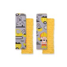 BabyLion BabyLion Prémium Biztonsági öv védő - Minky - Sárga munkagépek gyerekülés