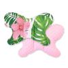 BabyLion BabyLion Prémium Minky pillangó párna - Trópusi -Rózsaszín