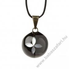 Babylonia Bola kismama lánc VK270 fekete gyöngy virág nyaklánc