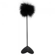 Bad Kitty Feather Wand Black - Cirógató szájpecek