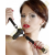 Bad Kitty Szilikon szájpecek kis dildóval - fekete
