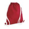 Bag Base Tornazsák tornatáska Hátizsák Bag Base Icon Gymsac - Egy méret, Piros