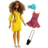 Barbie Barbie Fashionistas: Barna göndör hajú molett Barbie
