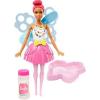 Barbie Dreamtopia: pink hajú buborékfújó tündérbaba