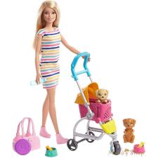Barbie kölyök kutyus sétáltató játékszett barbie baba