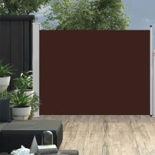 Barna behúzható oldalsó teraszi napellenző 170 x 500 cm kerti bútor