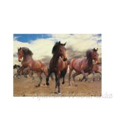 Barna lovas tányéralátét konyhai eszköz