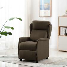 Barna szövet dönthető háttámlás fotel bútor