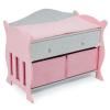 Bayer Chic Fából készült pelenkázó pult rózsaszín-szürke