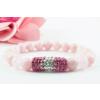 BBH Inspiration Rózsaszín jáde - rózsakvarc karkötő rózsaszín kristálycső medállal
