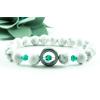 BBH Inspirations Howlit karkötő smaragdzöld kővel és hematit gyűrűvel