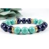 BBH Inspirations Swarovski night blue - jade gyöngy karkötő, kristály rondellákkal