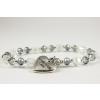 BBH Inspirations Üveggyöngy light blue karkötő szív medállal