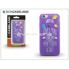 BCN Caseland Apple iPhone 6/6S szilikon hátlap - BCN Caseland Lemons - lila tok és táska