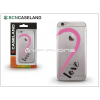 BCN Caseland Apple iPhone 7 Plus szilikon hátlap - BCN Caseland Love Purple - transparent