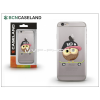 BCN Caseland Apple iPhone 7 Plus szilikon hátlap - BCN Caseland Skater Owl - transparent