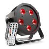 Beamz beamZ BFP120 FlatPAR 4 az 1-ben LED reflektor, 5 x 8 W RGBW LED, DMX, IR-távirányító