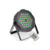 Beamz FlatPAR, 36 x 1W, PAR reflektor, RGB, LED, DMX, IR, távirányító