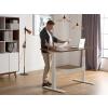 Beliani Állítható magasságú barna/fehér íróasztal 180x80 cm elektromos UPLIFT