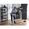 Beliani Állítható magasságú fehér/fehér asztal 180x80 cm elektromos UPLIFT