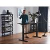 Beliani Állítható magasságú fekete asztal 180x80 cm elektromos UPLIFT
