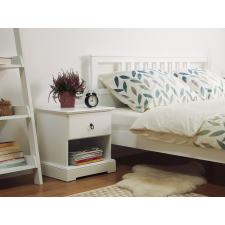Beliani Elegáns egyfiókos fehér éjjeliszekrény GILBERT bútor