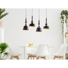 Beliani Elegáns mennyezeti design függőlámpa fekete színben FLUVIA világítás