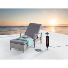 Beliani Elektromos teraszfűtő - infravörös - oszlop - alacsony - VEZUVIO kerti bútor