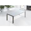 Beliani Étkezoasztal - Rozsdamentes asztal - Fehér - 220 cm - ARCTIC I