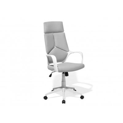 Beliani Fehér és szürke színű modern irodai forgószék DELIGHT