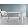 Beliani Fehér étkezoasztal - konyhaasztal - 120-155x90 cm - MEDIO
