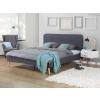 Beliani Kárpitozott ágy - 180x200 cm - Franciaágy - Szürke - RENNES