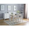 Beliani Klasszikus étkezőasztal fehér színben 120 x 75 cm HOUSTON