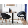 Beliani Modern szék 2 db szett fekete ROSLYN