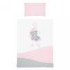 Belisima 6-részes ágyneműhuzat Belisima Teddy Bear 100/135 rózsaszín