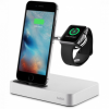 Belkin Valet töltő beépített töltéssel Apple Watch és iPhone készülékekhez - ezüst