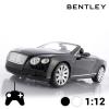Bentley Continental GT Átalakítható Távirányítós Kisautó, Fekete