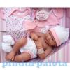Berenguer Élethű Berenguer Játékbabák - újszülött lány rózsaszín ruhában sapkával kiegészítőkkel 36cm