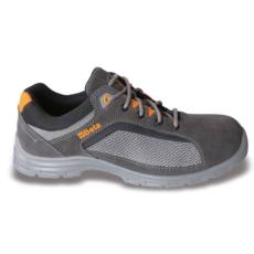 Beta 7213FG/47 perforált hasítottbőr munkavédelmi cipő, jól szellőző mesh betétekkel, 47 méret
