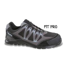 Beta 7341N/40 Mikro hasítottbőr munkavédelmi cipő, mérsékelten vízálló, nagyfrekvenciás PU betétekkel és védő erősítéssel a hasítottbőr orrnál, 40 méret