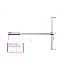 Beta 949 T szárú egyszerű kulcs mély hatlapfejű dugóvéggel 14 dugókulcs