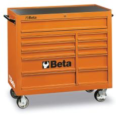 Beta C38 - 3800 11 fiókos szerszámkocsi – narancssárga színben