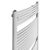 Betatherm BX 50125 (1250*496) íves fürdőszobai radiátor, fehér, BX Curves törölköző szárító radiátor, fürdőszobai csőradiátor, BX Curves
