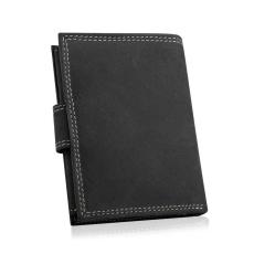 Betlewski függőleges kialakítású bőr pénztárca fekete