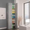 Betonszürke forgácslap irodai szekrény 60 x 32 x 190 cm