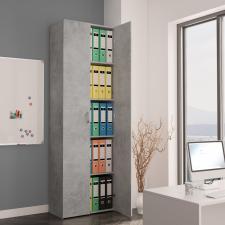 Betonszürke forgácslap irodai szekrény 60 x 32 x 190 cm irodabútor