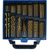 BGS 119 részes HSS lépcsős és csigafúró készlet, Titán bevonatú, 1 - 10 mm (BGS 2009)
