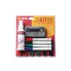 BI-OFFICE Kezdő készlet fehértáblához tiszt.spray,táblatörlő,4marker Bi-Office